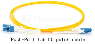 Push-Pull tab LC patch cable