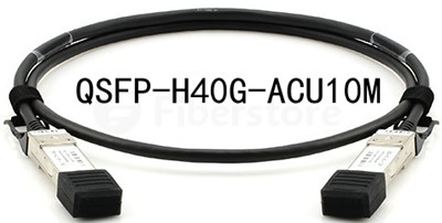 QSFP-H40G-ACU10M ,QSFP to QSFP direct attach passive copper cable assembly