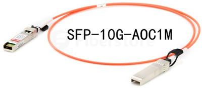SFP-10G-AOC1M, one SFP+ connector at each end