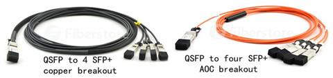 qsfp-4 sfp+ copper breakout vs. qsfp-4 sfp+ AOC breakout