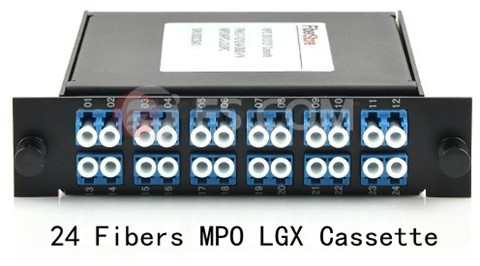 24 Fibers MPO LGX Cassette